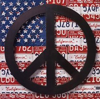 American Flag Peace Sign Fine-Art Print