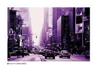 Manhattan - purple street view Fine-Art Print