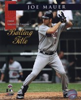 Joe Mauer 2008 American League Batting Title With Overlay Fine-Art Print