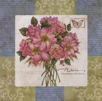 Flowers on Blue II Fine-Art Print