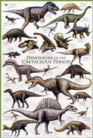 Dinosaurs - Cretaceous Period Wall Poster
