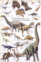 Dinosaurs - Jurassic Period Wall Poster