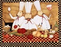 3 Chefs at Work Fine-Art Print