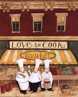 Love to Cook Market Fine-Art Print