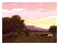 Grazing Below The Mesa Fine-Art Print
