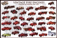 Vintage Fire Engines Wall Poster