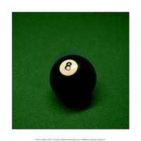8 Ball on Green Framed Print