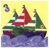 Three Ships Framed Print