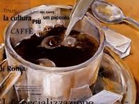 Un Piccolo Caffe Fine-Art Print