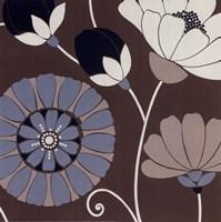 Chocolate Retro Floral Fine-Art Print