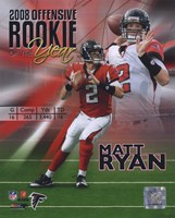 Matt Ryan 2008 Rookie of the Year Portrait Plus Fine-Art Print