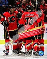 Jarome Iginla 832nd career point to become Flames All-Time leadign scorer 2008-09 Fine-Art Print