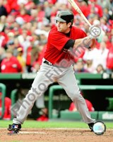 Lance Berkman - 2009 Batting Action Fine-Art Print
