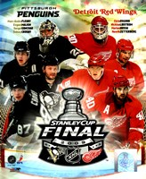 '09 St. Cup Match Up - Pens / Red Wings Fine-Art Print