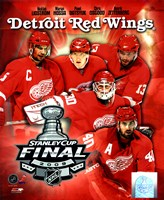 "'09 St. Cup - Red Wings ""Big 5"" Fine-Art Print"