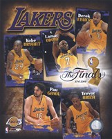 "2009 Finals - Lakers ""Big 5"" Fine-Art Print"