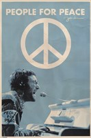John Lennon- People For Peace Wall Poster