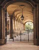 Courtyard Colonnade Fine-Art Print