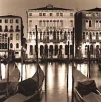 Il Gran Canale di Notte Fine-Art Print