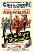 How to Marry a Millionaire, c.1953 - style C Fine-Art Print