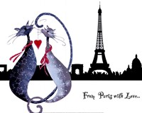 From Paris with Love Catitudes Fine-Art Print