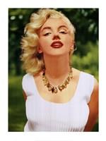 Marilyn Monroe Amber Beads Fine-Art Print