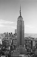 Empire State Building BW Wall Poster