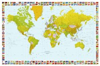 Map of the World (mercator projection) Fine-Art Print