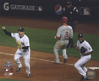 M.Teixeira & M.Rivera Celebrate the final out of Game Six of the 2009 MLB World Series (#26) Fine-Art Print