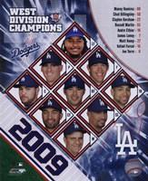 2009 Los Angeles Dodgers NL West Champions Team Composite Fine-Art Print