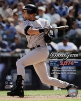 Derek Jeter Most Career Hits by a Shortstop 2009 with Overlay Fine-Art Print