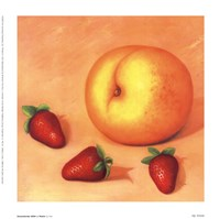Strawberries With A Peach Fine-Art Print