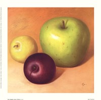 Two Apples And A Plum Fine-Art Print