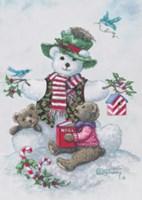 Snowman Teddy Bear l Fine-Art Print