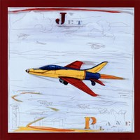 Jet with Red Border Fine-Art Print