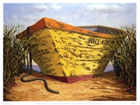 Yellow & Orange Boat Fine-Art Print