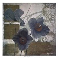 Cerulean Poppies I Fine-Art Print