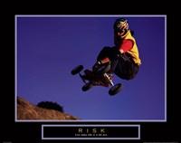 Risk- Mountain Boarder Fine-Art Print