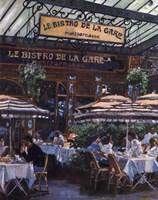 Le Bistro de la Gare Fine-Art Print