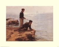Boys Fishing Fine-Art Print