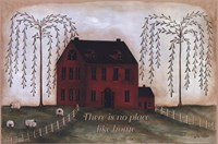 There's No Place Like Home - red Fine-Art Print