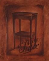 Une Table Fine-Art Print