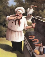 Barbecue Chef Hot Sauce Fine-Art Print