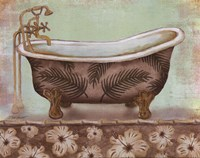 Tropical Bath I - mini Fine-Art Print