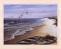 Two Rowboats on Beach Fine-Art Print