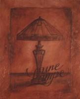 Une Lampe Fine-Art Print