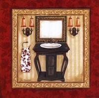 Red Demask Bath II Fine-Art Print