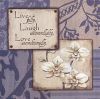 Live Laugh Love Uncontrollably Fine-Art Print