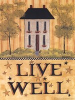 Live Well House Fine-Art Print