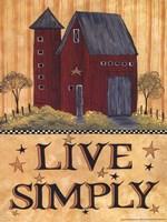 Live Simply Barn Fine-Art Print